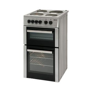Beko BD533AS 50cm Twin Cavity Solid Plate Cooker – Silver
