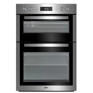 Beko BDF26300 90cm Integrated Double Fan Oven – Stainless Steel