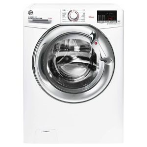 Hoover H3WS4105DAC 10kg 1400 Spin Washing Machine White – Chrome Door