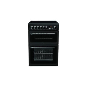 HOTPOINT HAE60K 60cm COOKER DOUBLE OVEN CERAMIC BLACK