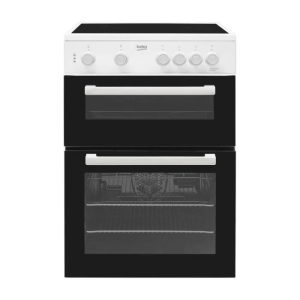 Beko KTC611 Twin Cavity 60cm Cooker – White