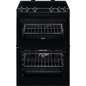 Zanussi ZCV66050BA 60cm Ceramic Cooker Double Oven – Black